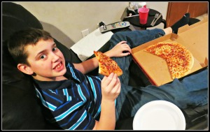 Mikey and Pizza