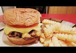 Veggie burger on bun