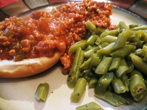 Sloppy Joe's and Green Beans 6