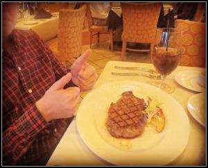 Steak thumb's up