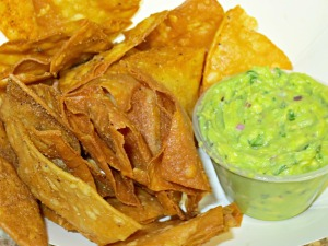 Alligator Pear chips and guac