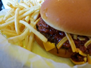 Hartell's chili burger