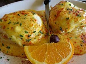 Pancakery Eggs Benedict