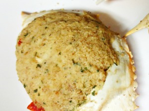 Sexton's stuffed crab cooked