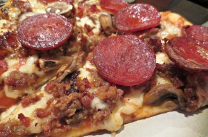 My pizza close
