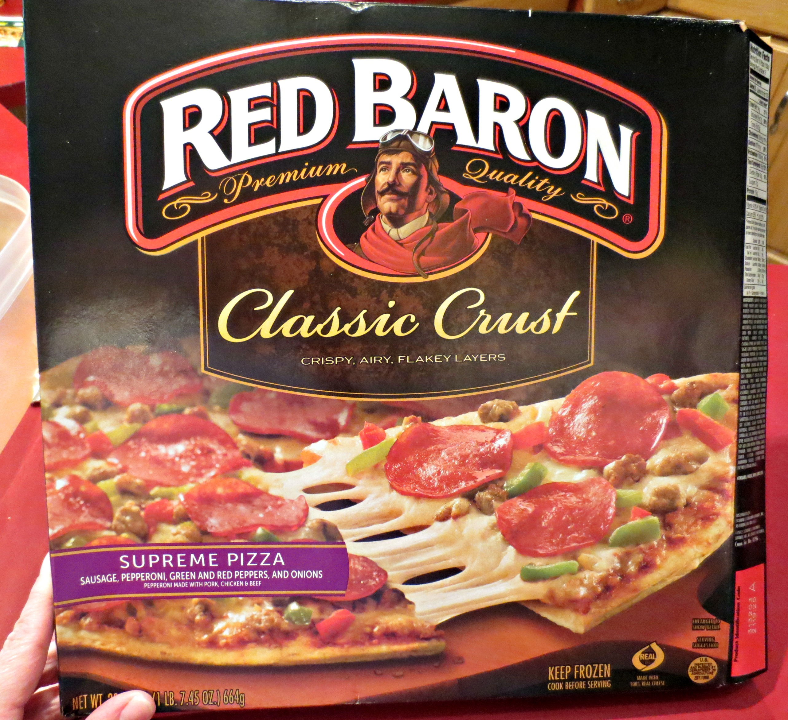 red baron pizza box images galleries with a bite. Black Bedroom Furniture Sets. Home Design Ideas