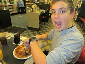 First time at waffle house