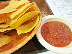 Grin Go's chips and salsa