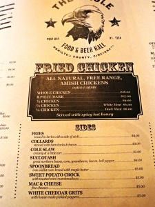 The Eagle menu 1