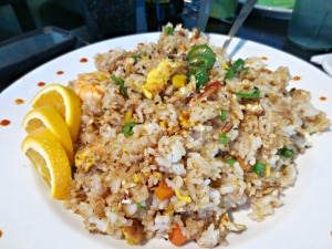 Dancing Wasabi Shrimp Fried Rice