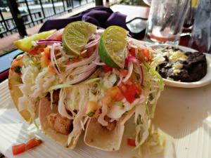 Crab Island Cantina fish tacos