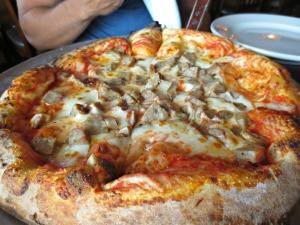 Fat Clem Sausage pizza