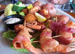 Floyd's bacon wrapped shrimp