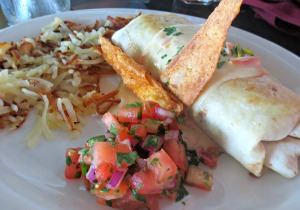 Harbor Docks breakfast burrito