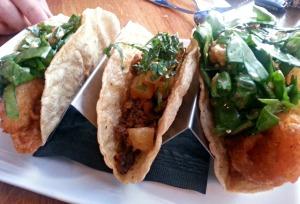 Django pork and shrimp tacos