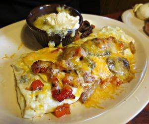 Flapjacks omelette