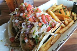 Brotula's blackened fish tacos