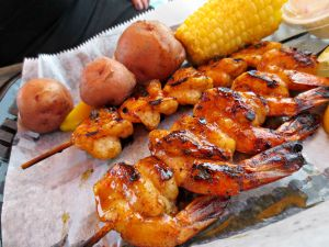 Dewey Destin grilled shrimp