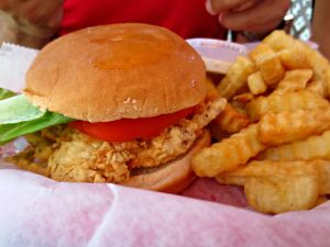 Dewey Destin soft shell crab sandwich