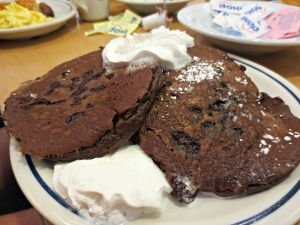 IHOP chocolate pancakes