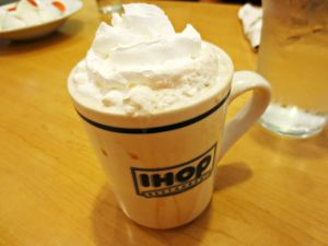 IHOP hot chocolate