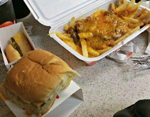 Krystal burger and fries