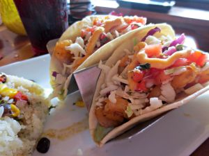 Surf Hut shrimp tacos