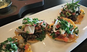Pork belly tostadas