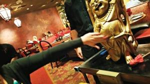 Rubbing Buddha belly
