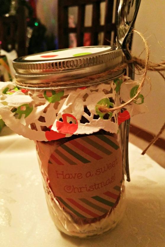 Cupcake jar front