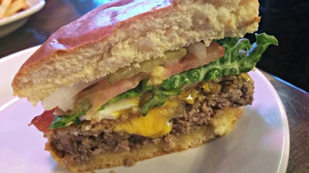 Burger inside